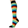 Knee High Socks - Mint Multi Stripe