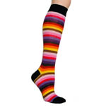 Knee High Socks - Pink Multi Stripe