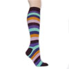 Knee High Socks - Purple Rainbow