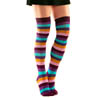 Over The Knee Socks - Purple Rainbow