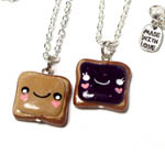 Peanut Butter & Jelly BFF Necklace Set