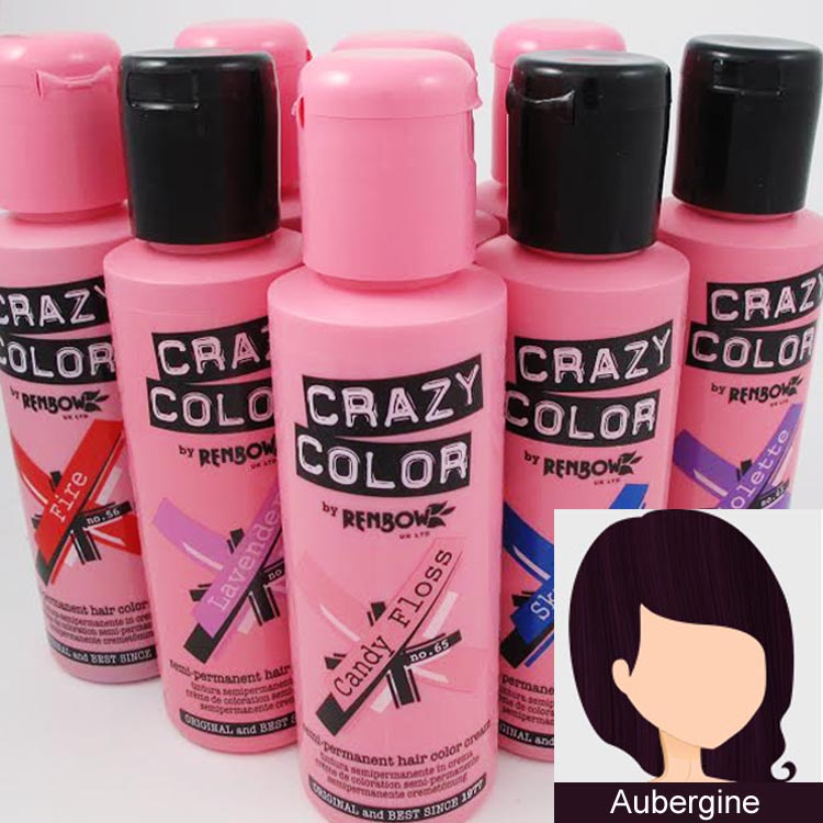 crazy color hair dye aubergine - Crazy Color Aubergine