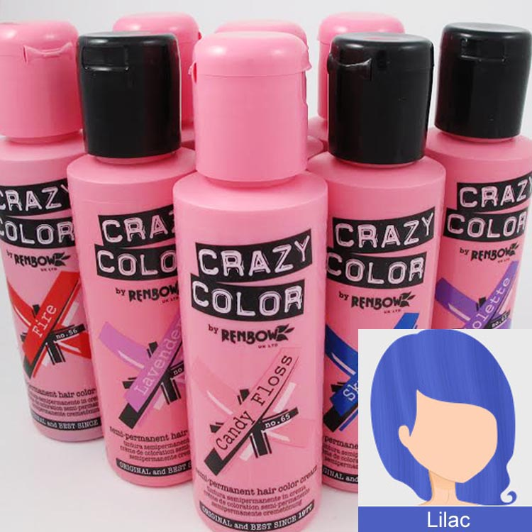 Crazy Colours Lilac Crazy Color Hair Dye Lilac