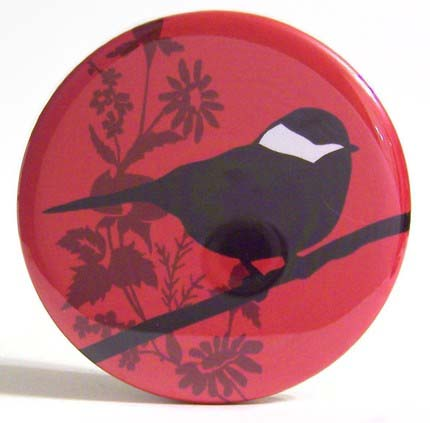 Pocket Mirror - Cleo Bird Red - Click Image to Close
