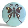 Pocket Mirror - Butterfly Blue