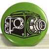 Pocket Mirror - Camera Green