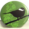 Pocket Mirror - Cleo Bird Green