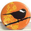 Pocket Mirror - Cleo Bird Orange
