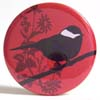 Pocket Mirror - Cleo Bird Red