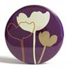 Pocket Mirror - Flower Silhouette Purple
