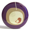 Pocket Mirror - Modern Birdhouse Purple