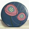 Pocket Mirror - Mod Flower Blue