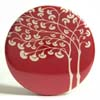 Pocket Mirror - Mod Tree Red