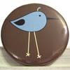 Pocket Mirror - Mr Long Legs Blue on Brown