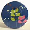 Pocket Mirror - Nature Silhouette Blue