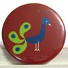 Pocket Mirror - Peacock Red