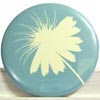 Pocket Mirror - Puff Flower Blue