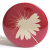 Pocket Mirror - Puff Flower Red