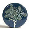Pocket Mirror - Spiral Tree Deep Teal
