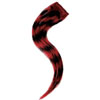 "Manic Panic Human Hair Glam Strips 10"" - Black with Vampire Red"