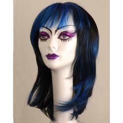 Manic Panic Wig - Tramp - Shocking Blue / Raven