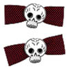Sourpuss Clothing Hair Barrettes - Skull Bow Red Dots