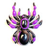 Sourpuss Clothing Hair Barrette - Purple Tarantula