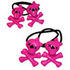 Sourpuss Clothing Hair Bobbles - Pink Girly Skull