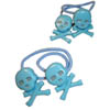 Sourpuss Clothing Hair Bobbles - Turquoise Skull