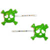 Sourpuss Clothing Hair Pin - Green Girly Skull