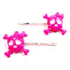 Sourpuss Clothing Hair Pin - Pink Girly Skull